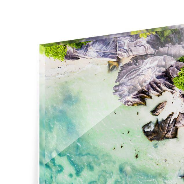 Spritzschutz Glas - Versteckter Strand - Panorama 5:2
