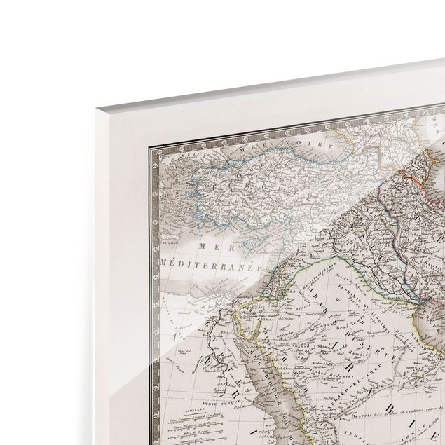 Spritzschutz Glas - Vintage Karte im Orient - Querformat 4:3