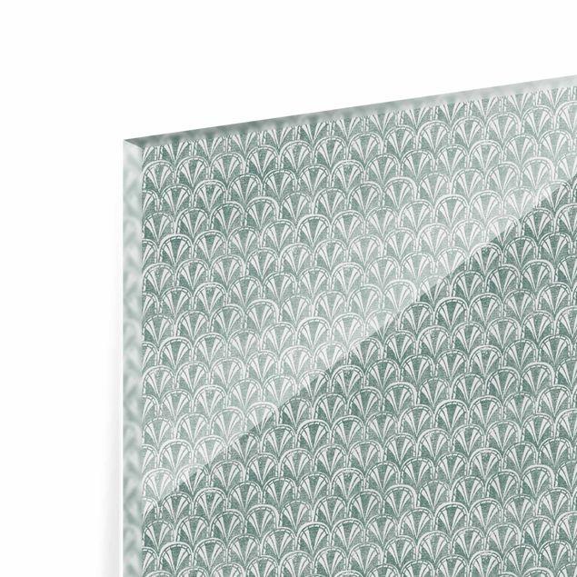 Spritzschutz Glas - Vintage Muster Art Deco Bögen - Querformat 3:2