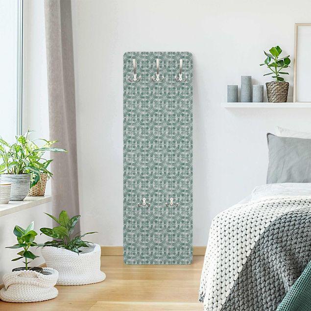Garderobe - Vintage Muster Geometrische Fliesen