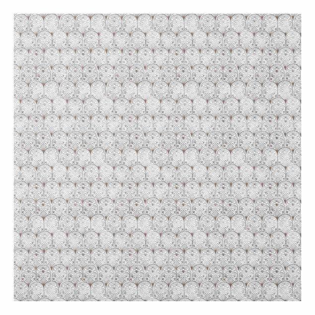 Spritzschutz Glas - Vintage Muster Orientalische Bögen - Quadrat 1:1