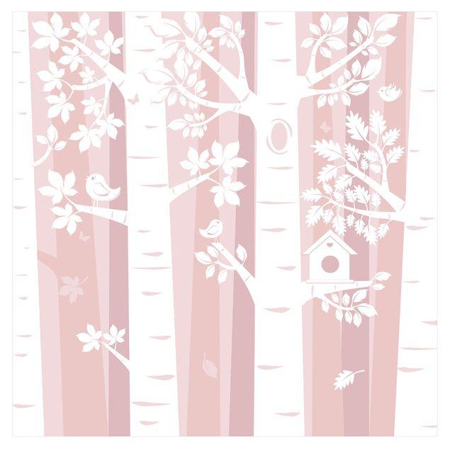 Fototapete Bäume im Wald Rosa