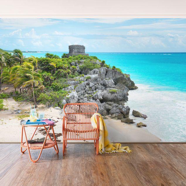 Fototapete Karibikküste Tulum Ruinen