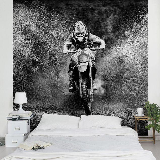 Fototapete Motocross im Schlamm