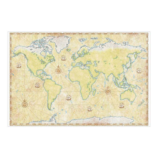 Fototapete World Map