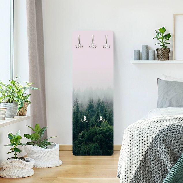 Garderobe - Wald im Nebel Dämmerung