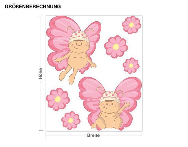 Wandsticker Baby Schmetterlinge
