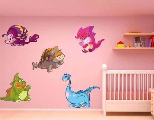 Wandsticker Babydino-Set3