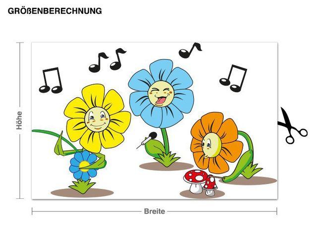 Wandsticker Blumentrio