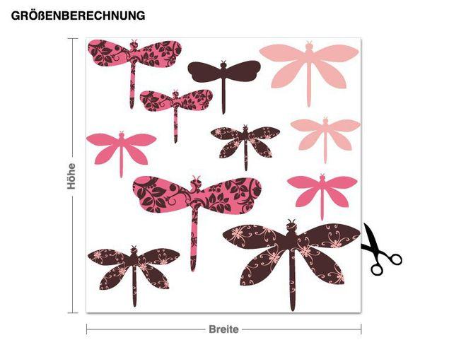 Wandsticker Bunte Libellen