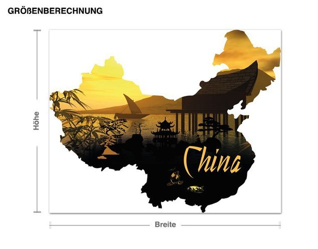 Wandsticker China
