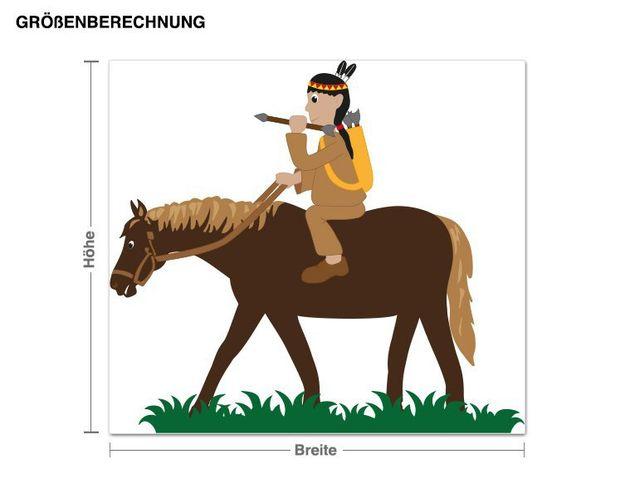 Wandsticker Cooler Indianer