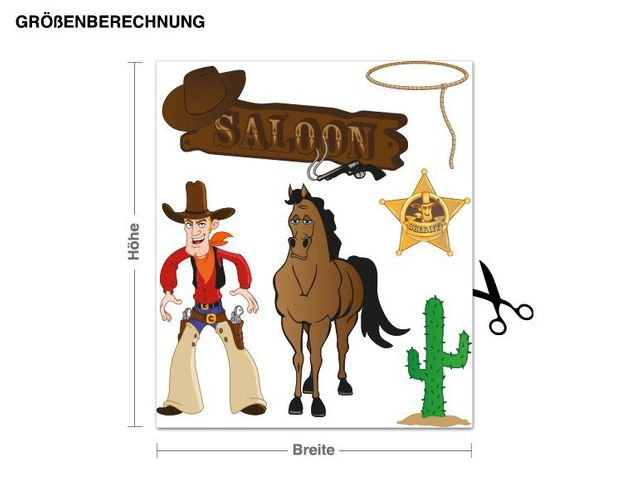 Wandsticker Cowboy Set
