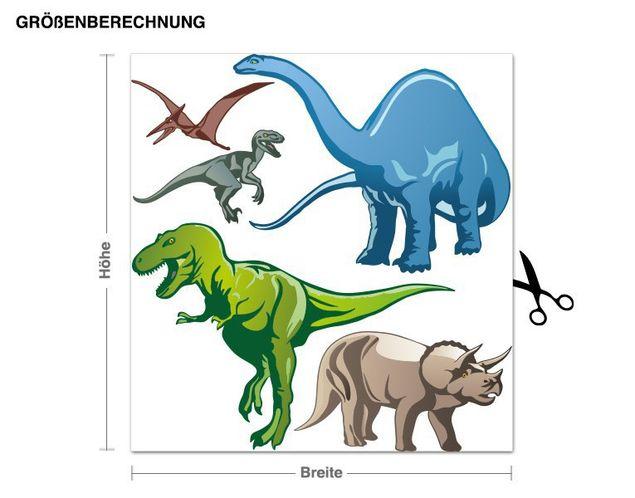 Wandsticker Dinos bunt Set