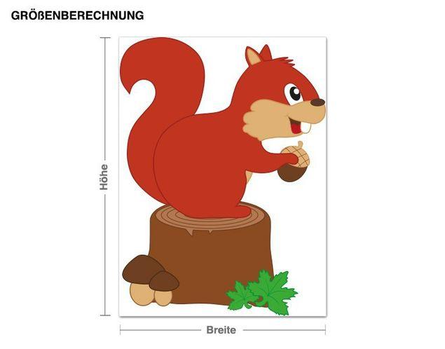 Wandsticker Eichhörnchen