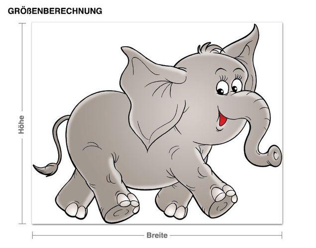 Wandsticker Elefant