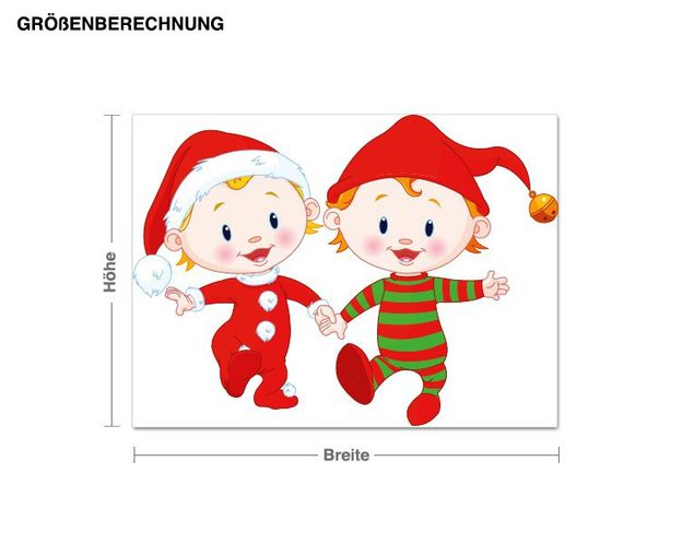 Wandsticker Fröhliche Elfen