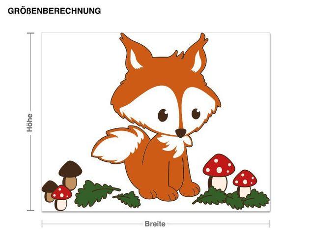 Wandsticker Fuchs