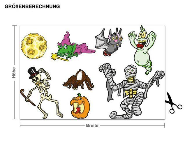 Wandsticker Halloween-Set