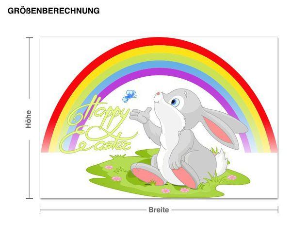 Wandsticker Happy Easter Häschen