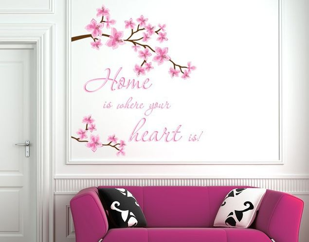 Wandsticker Home is ...