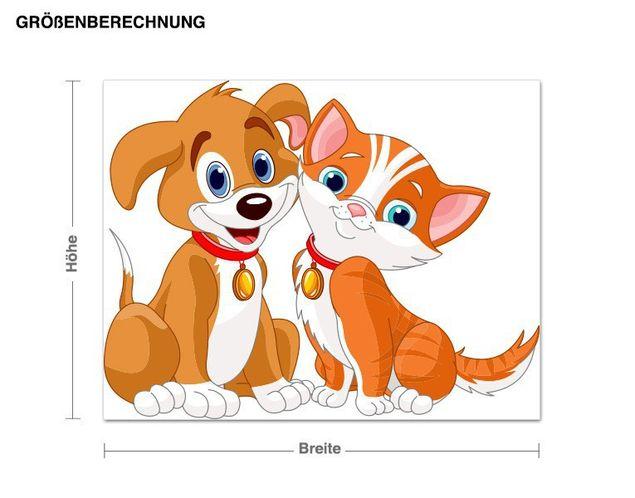Wandsticker Hund & Katze