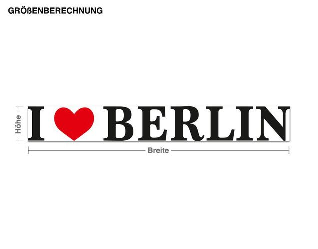 Wandsticker I Love Berlin