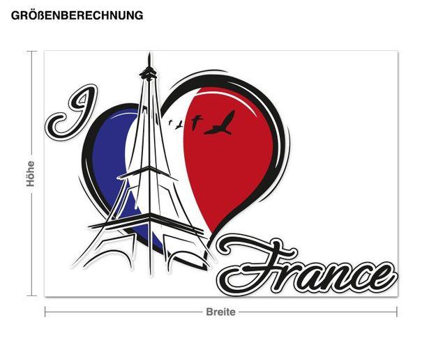 Wandsticker I love France