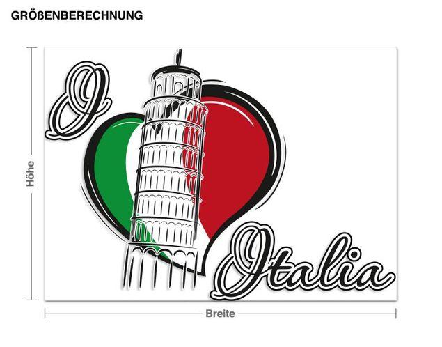 Wandsticker I love Italia