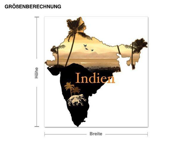 Wandsticker Indien