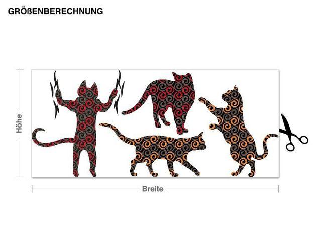 Wandsticker Katzen Muster