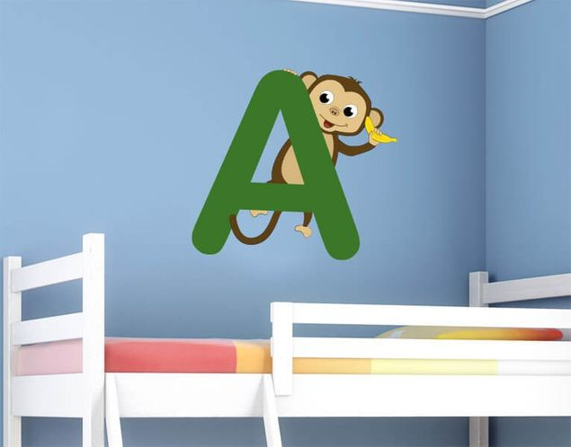 Wandsticker Kinder ABC - Affe