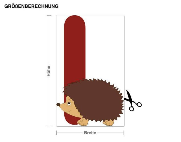 Wandsticker Kinder ABC - Igel