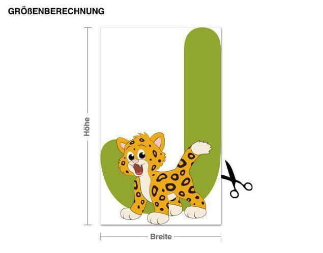Wandsticker Kinder ABC - Jaguar