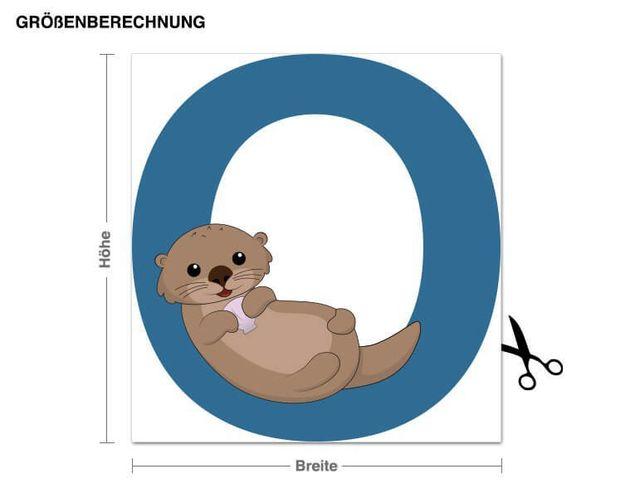 Wandsticker Kinder ABC - Otter
