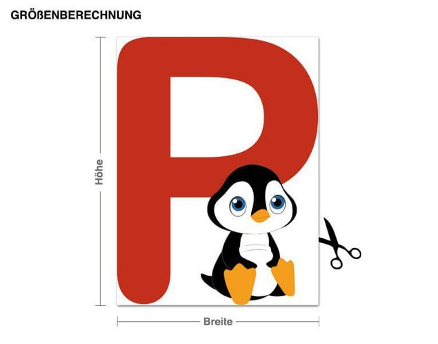 Wandsticker Kinder ABC - Pinguin