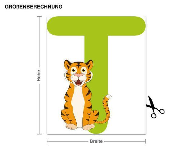 Wandsticker Kinder ABC - Tiger