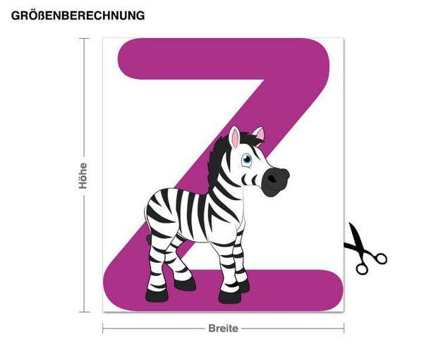 Wandsticker Kinder ABC - Zebra