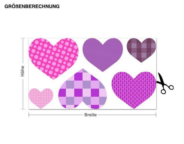 Wandsticker Muster Herzen