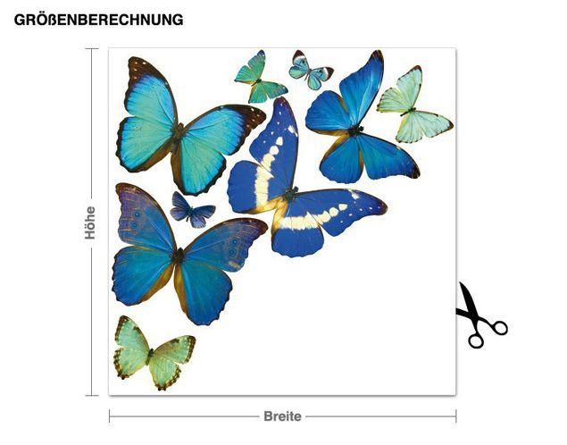 Wandsticker Natürliche Schmetterlinge