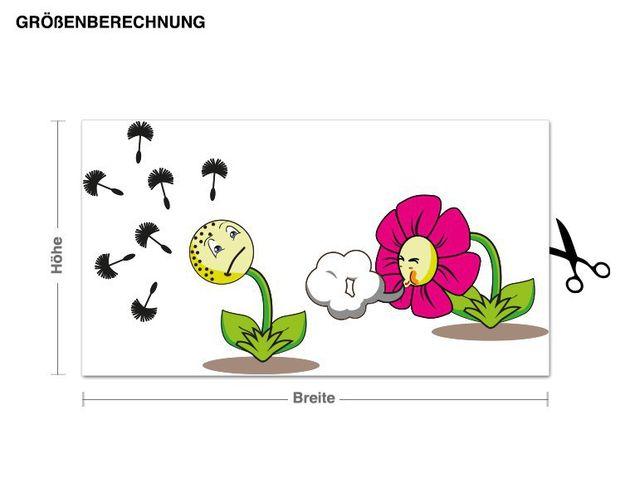 Wandsticker Niesende Blumen