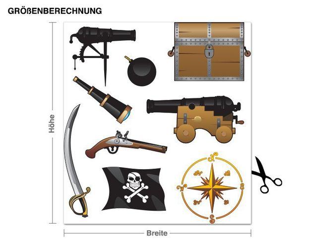 Wandsticker Piratenausrüstung