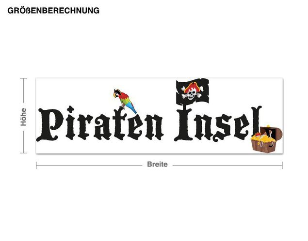 Wandsticker Pirateninsel