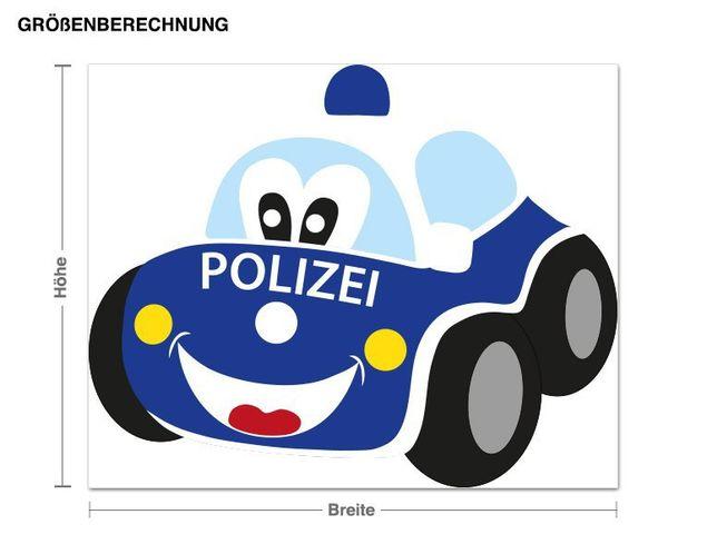 Wandsticker Polizeiauto