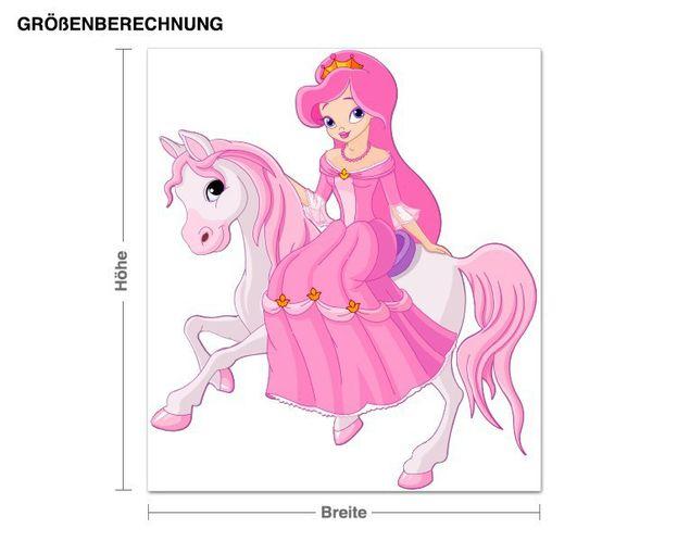 Wandsticker Prinzessin auf Pferd