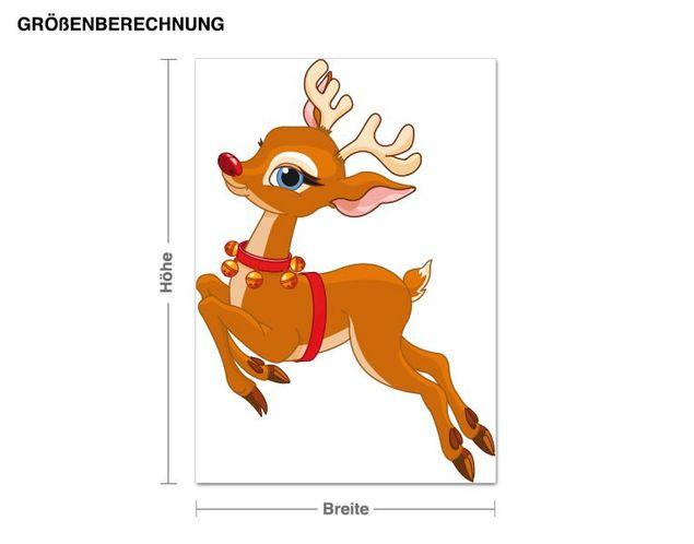 Wandsticker Rentier Rudolph