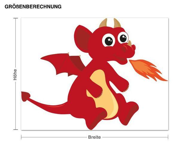Wandsticker Roter Drache