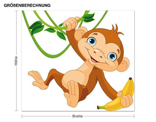 Wandsticker Schaukelnder Affe