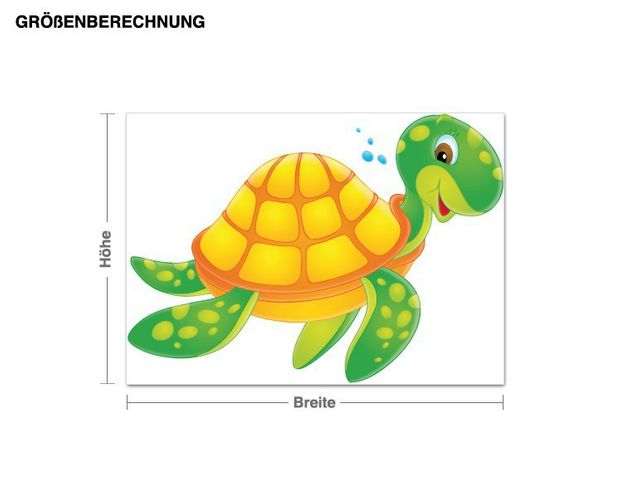 Wandsticker Schildkröte