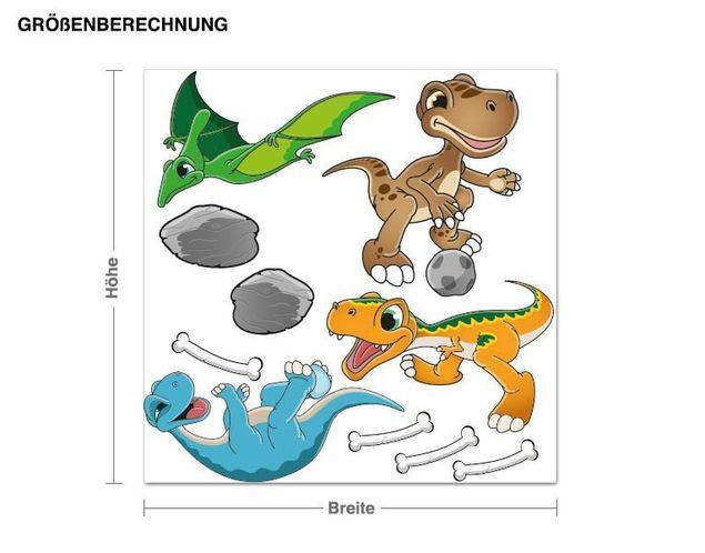 Wandsticker Spielende Dinofreunde